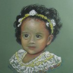 """La Hermanita"" pastel portrait by AVonnHartung"
