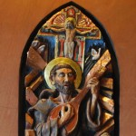 St.Francis of Assisi ceramic sculpture high relief by AVonnHartung for private collection (Puerto Rico)