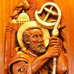 St. Peter high relief wood sculpture by AVonnHartung