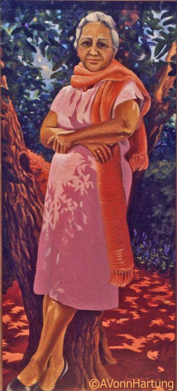 """Doña Elisa"" oil portrait by AVonnHartung"