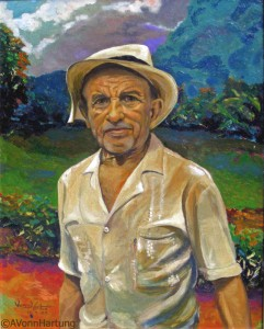 """El Jíbaro"" oil portrait by AVonnHartung"