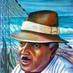 """""""El Pescador"""" pastel portrait by AVonnHartung"""
