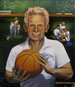 Portrait of a Hero Francis X Sweeney, TeacherMentorFriend_oil portrait by AVonnHartung