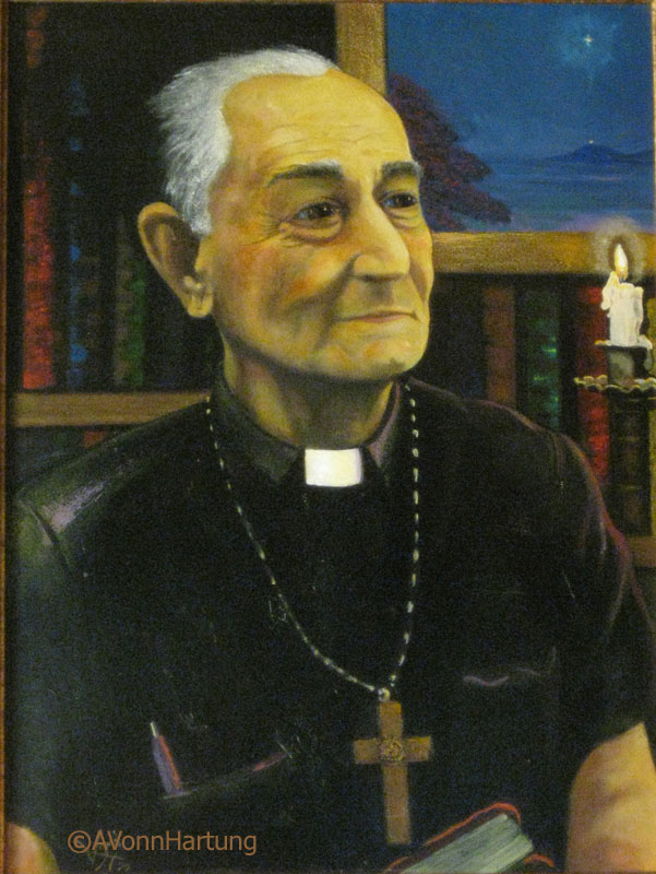 """Monseñor Antulio Parrilla-Bonilla SJ"" oil portrait by AVonnHartung"