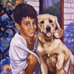 """Nicky and Buckwheat"" oil portrait by AVonnHartung"