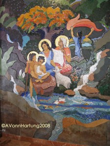 """The Life and Prophecy of St. John the Baptist"" MosaicMural (right arch) by AVonnHartung in Orocovis, Puerto Rico"
