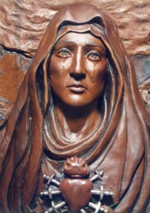 Our Lady of Sorrows closeup_woodcarving by avonnhartung