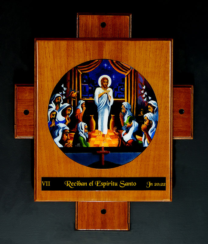 "Painting_""Receive the Holy Spirit""_7th Station of the Resurrection by avonnhartung"