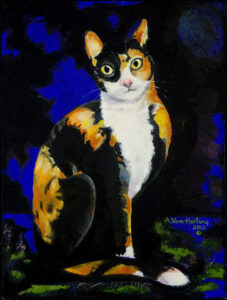 Mystical Cat, painting by A.Vonn Hartung