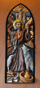 St. Francis of Assisi ceramic sculpture by A.Vonn Hartung